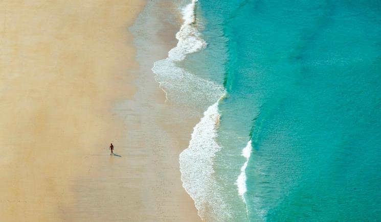 La playa de Torimbia está considerada una de las más espectaculares y bellas de Asturias