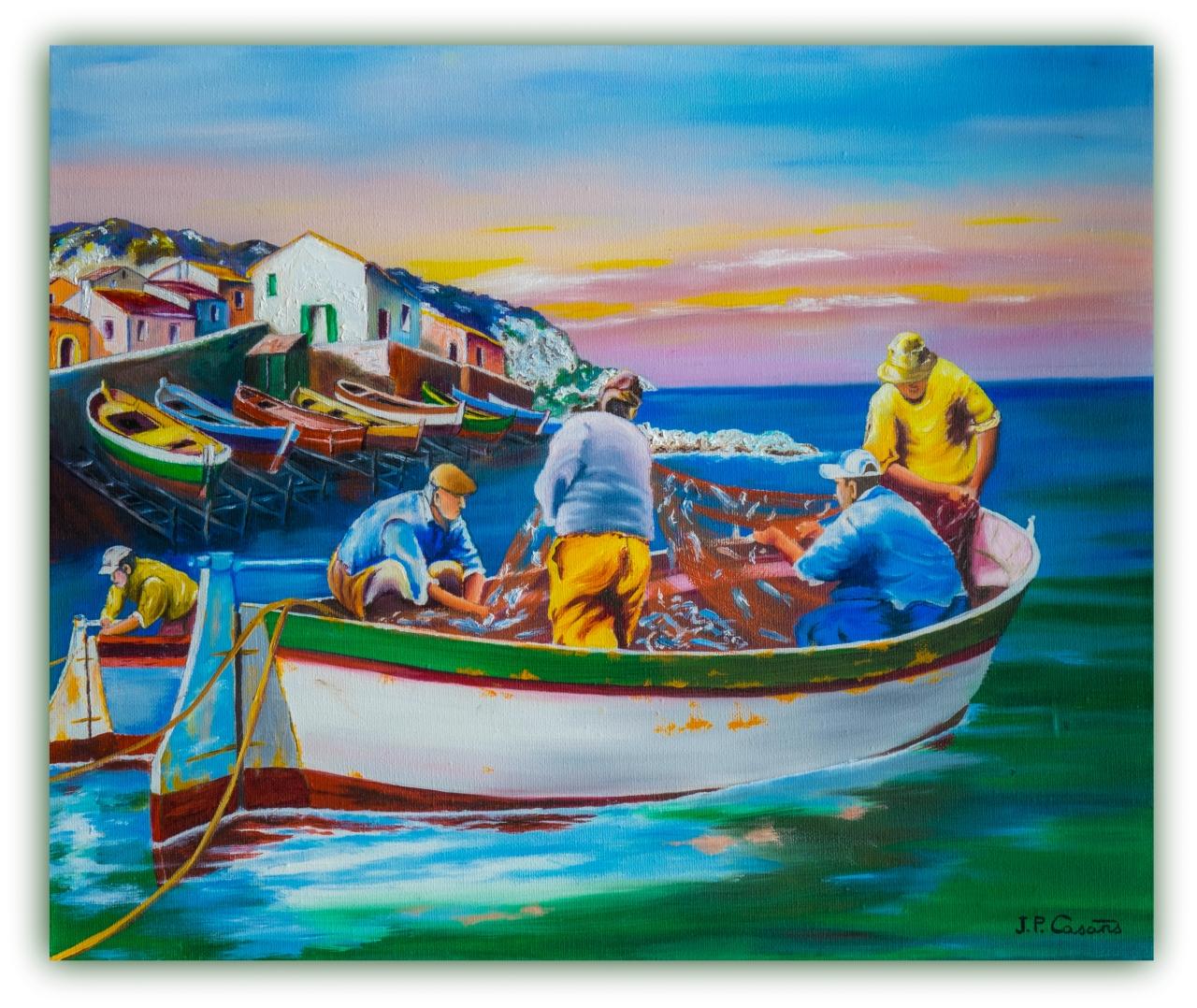 · Pescadores faenando en la CostaBrava