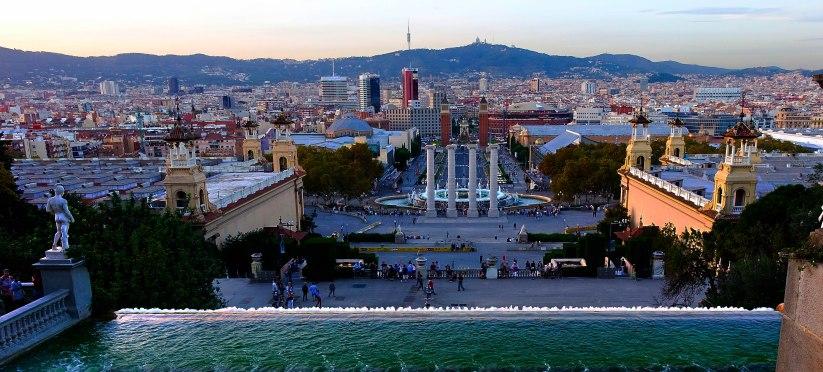 Plaza de España desde MNAC (1 de 1)