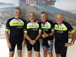 Jacintº, Tomás, Javi y Santi en Torelló, sede de Sherpatour