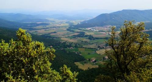 La Vall d'en Bas desde los Cingles de Falgars