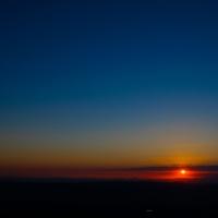 Puesta de sol desde el Montseny