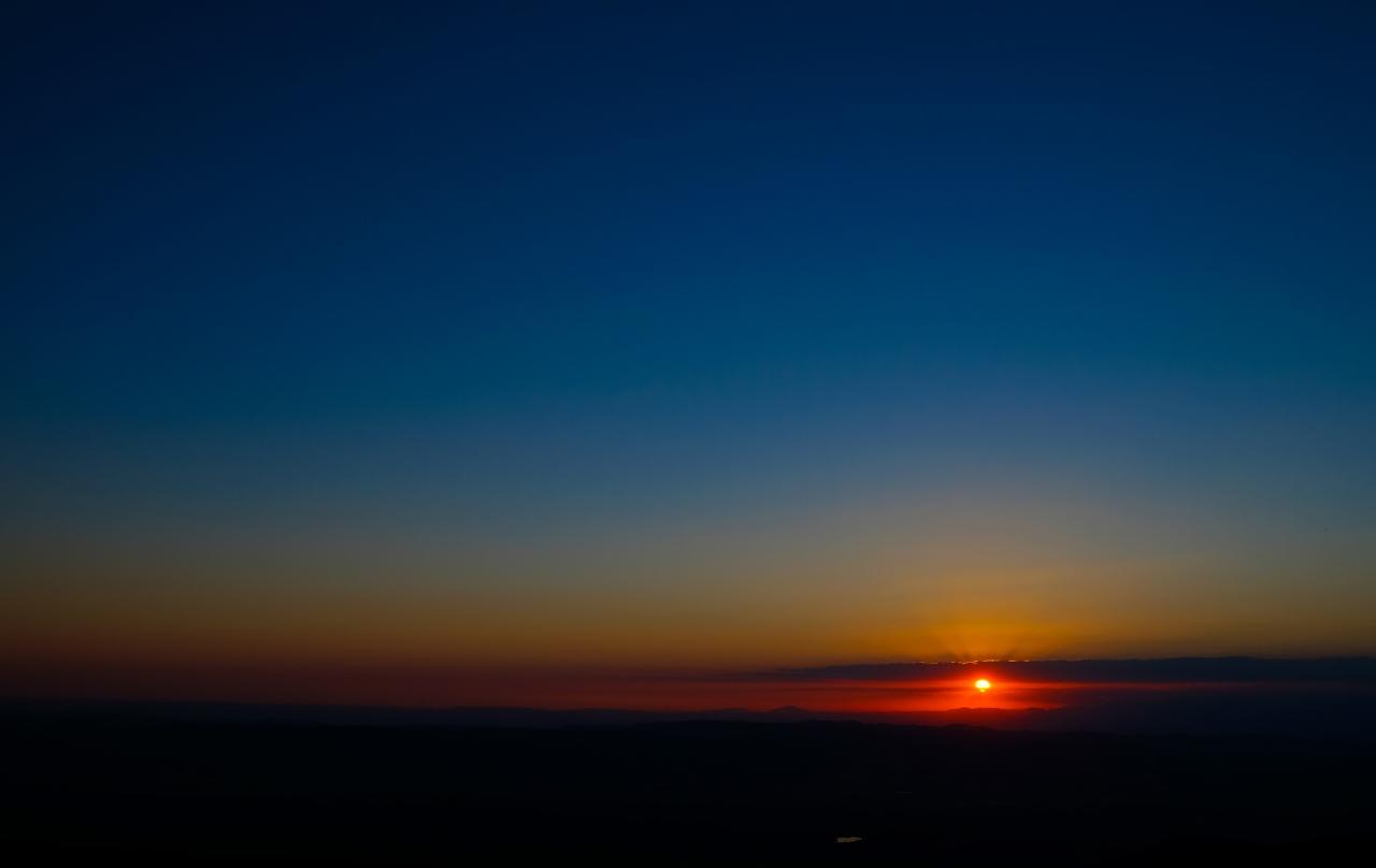 Puesta de sol desde elMontseny