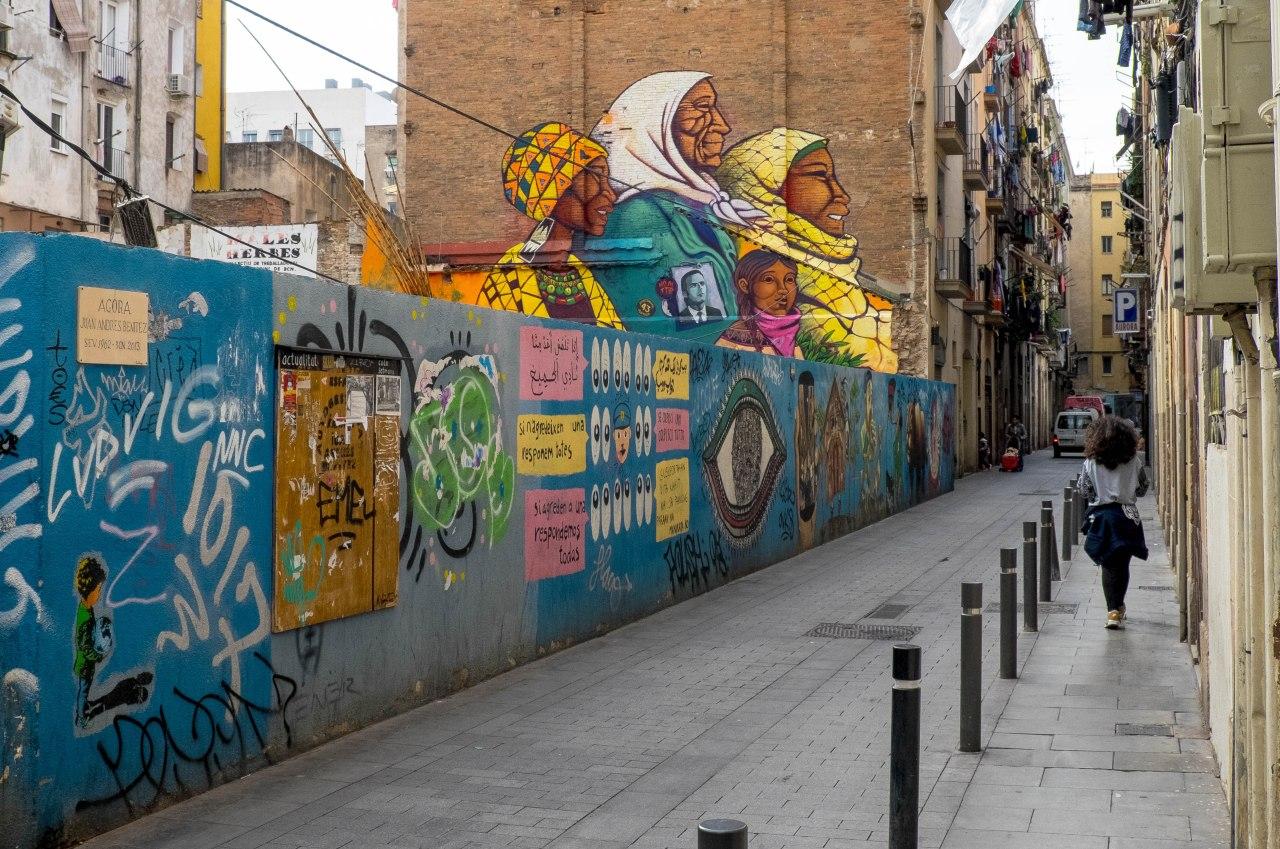 Barrio del Raval deBarcelona