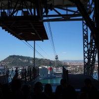 Barcelona panorámica desde el Transbordador Aéreo del puerto