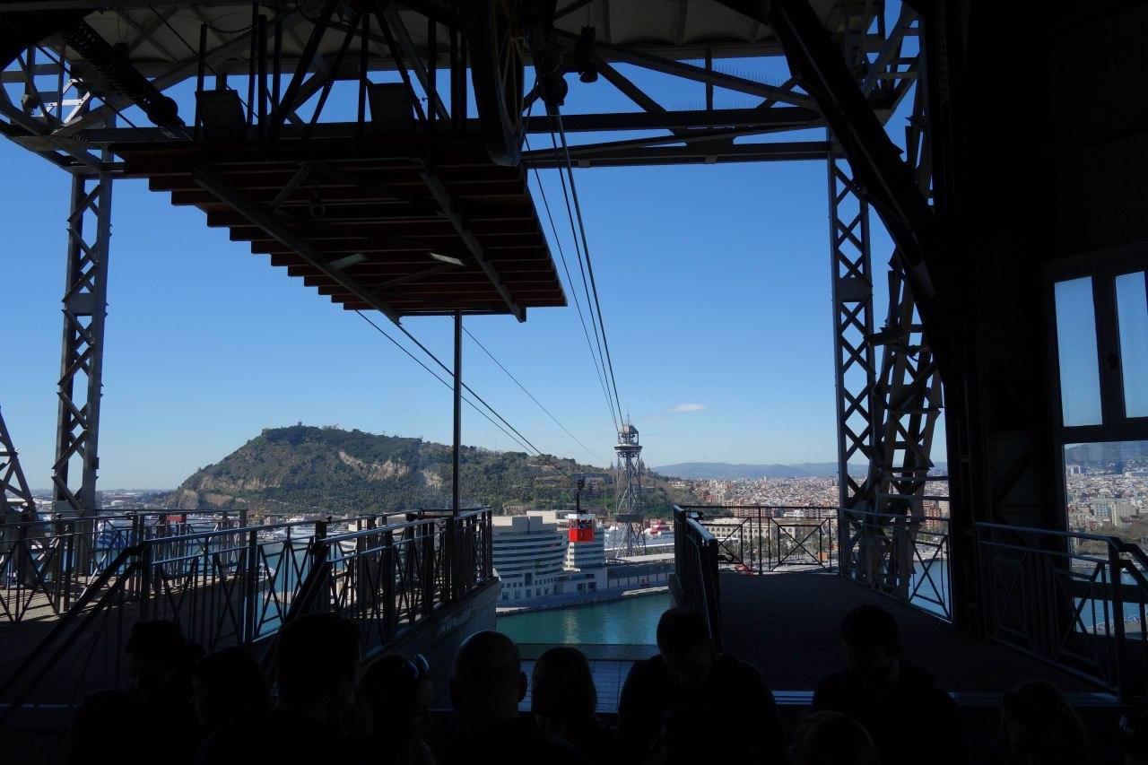 Barcelona panorámica desde el Transbordador Aéreo delpuerto
