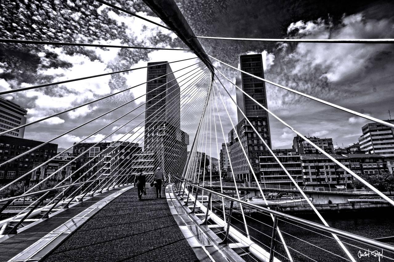 Puente peatonal de Zubizuri,Bilbao