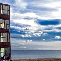 Escenas urbanas en el Paseo Marítimo de Barcelona