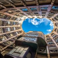 """La casa Milà de Barcelona, llamada popularmente """"La Pedrera"""""""