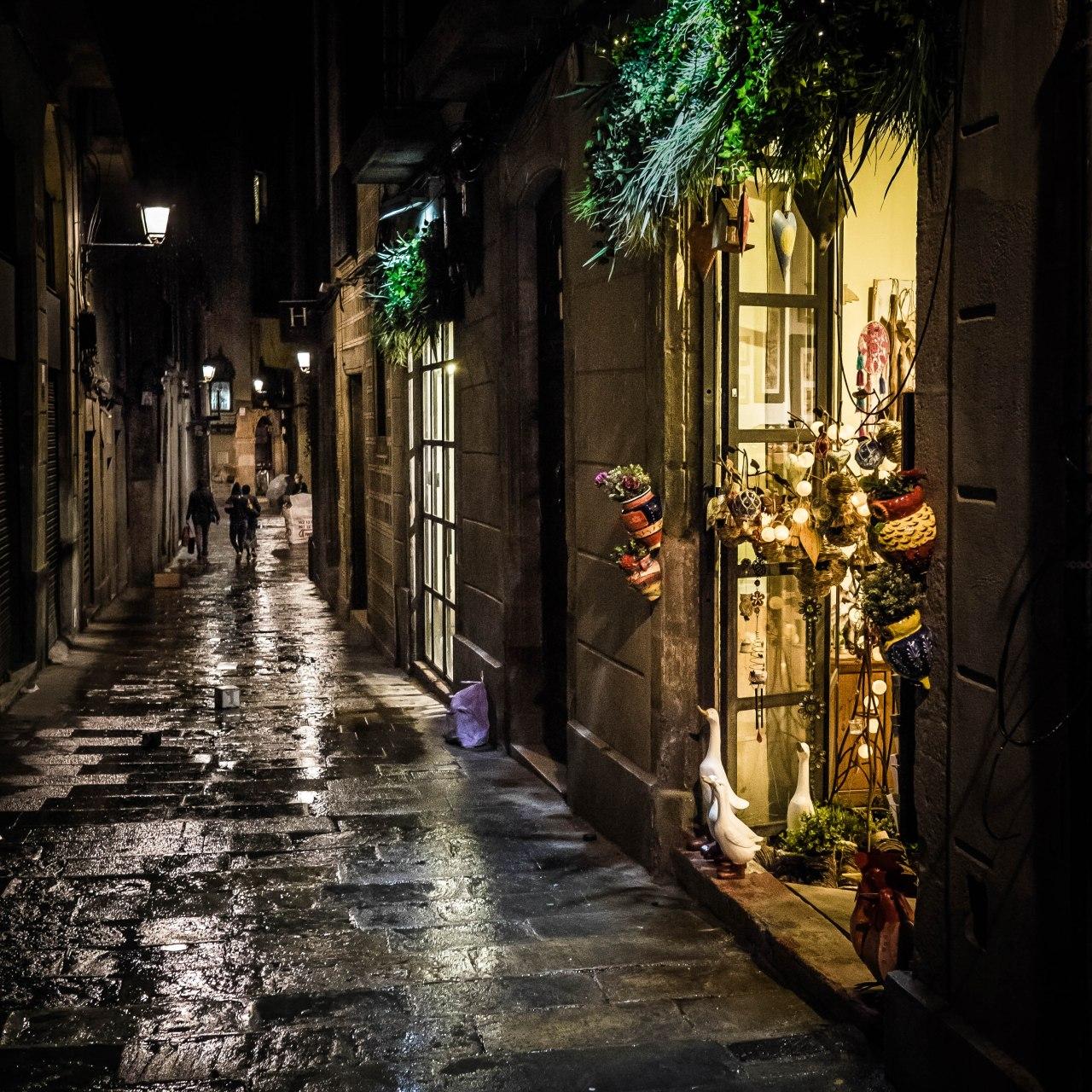 The heart of Barcelona atnight